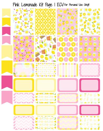 наклейки для планера - pink lemonade 1