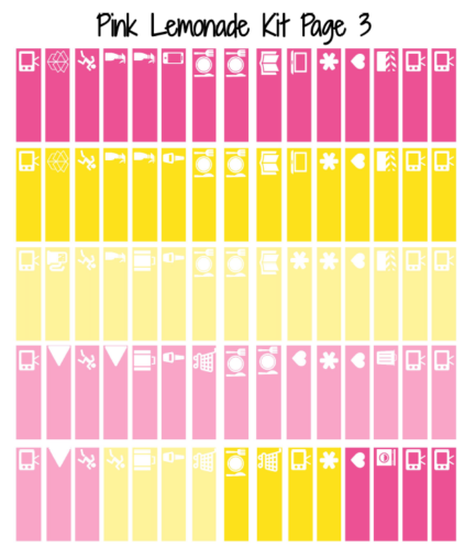 стикеры для ежедневника - pink lemonade 3