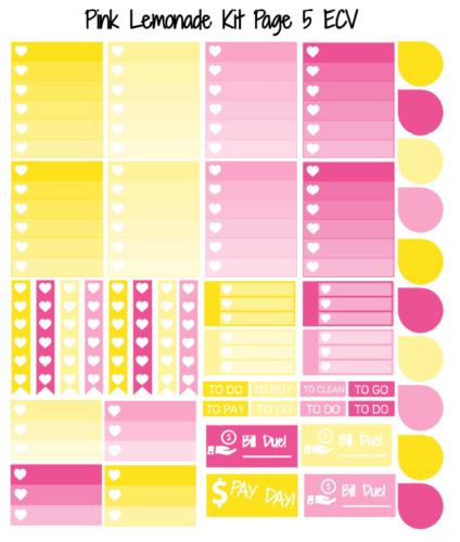 наклейки для планера - pink lemonade 4