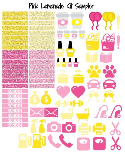 стикеры для ежедневника - pink lemonade 6