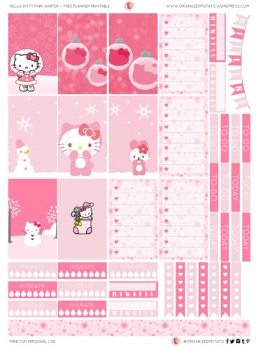 стикеры для ежедневника Hello Kitty
