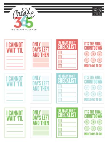 наклейки для ежедневника - 365