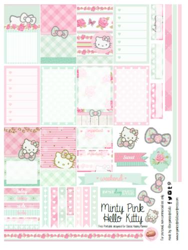наклейки для планера Hello Kitty