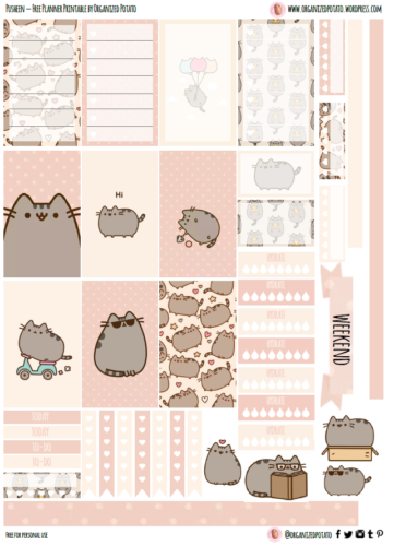 стикеры для планеры - котя