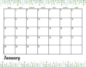 Планер на январь 2019 - зелень