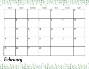Планер на февраль 2019 - зелень