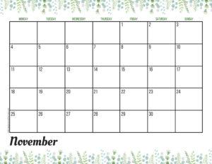 Планер на ноябрь 2019 - зелень