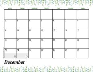 Планер на декабрь 2019 - зелень