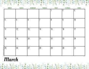 Планер на март 2019 - зелень