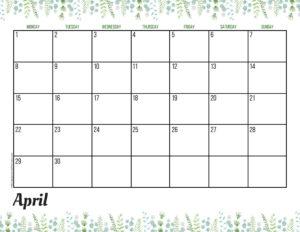 Планер на апрель 2019 - зелень