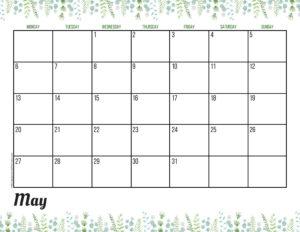 Планер на май 2019 - зелень