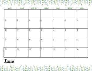 Планер на июнь 2019 - зелень