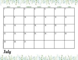Планер на июль 2019 - зелень