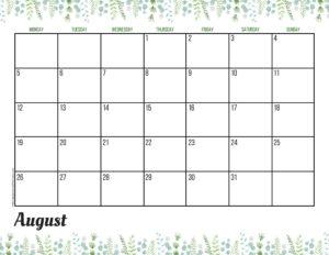 Планер на август 2019 - зелень