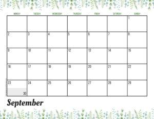 Планер на сентябрь 2019 - зелень