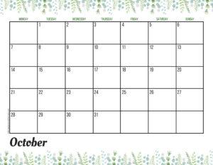 Планер на октябрь 2019 - зелень