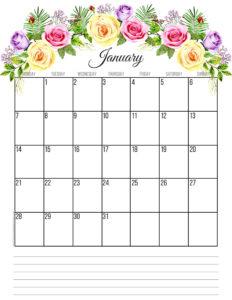Планер на январь 2019 года - цветы