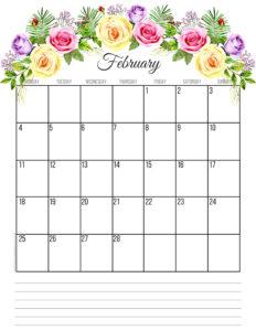 Планер на февраль 2019 года - цветы