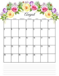 Планер на август 2019 года - цветы