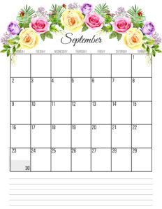 Планер на сентябрь 2019 года - цветы