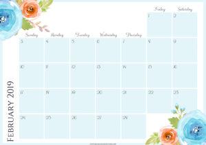 Цветочный планер на февраль 2019
