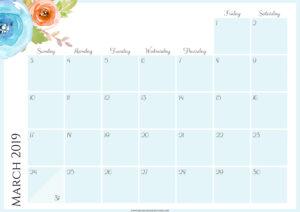 Цветочный планер на март 2019
