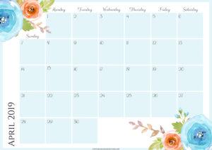 Цветочный планер на апрель 2019