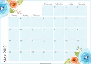 Цветочный планер на май 2019