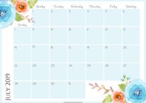 Цветочный планер на июль 2019