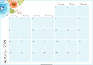 Цветочный планер на август 2019