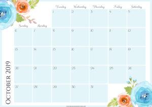 Цветочный планер на октябрь 2019