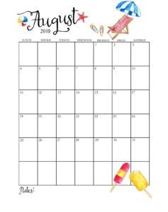 Календарь-планер на август 2019