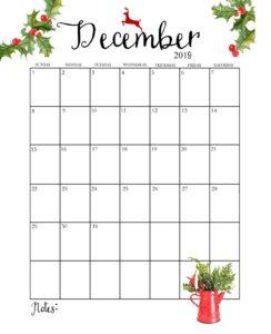 Календарь-планер на декабрь 2019