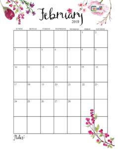 Календарь-планер на февраль 2019
