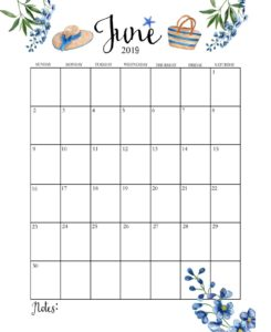 Календарь-планер на июнь 2019