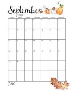 Календарь-планер на сентябрь 2019