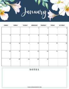 January 2019 planner