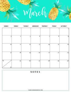 March 2019 planner