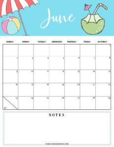 June 2019 planner