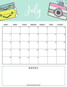 July 2019 planner