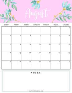 August 2019 planner
